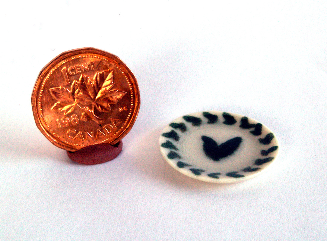 mini porcelain plate